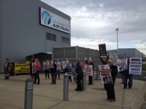 abx headquarters protest